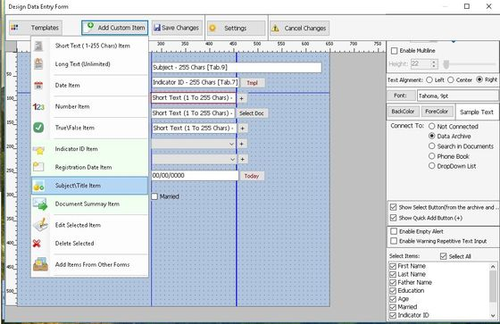 Form builder software,archive software